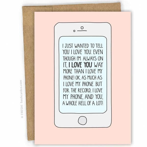 Phone Love Card
