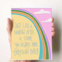 You make it better Encouragement Card Friendship Love Card