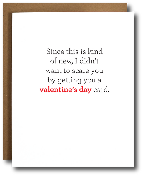 "Newly Dating Funny Valentine's Day Card Inside ""Happy Sunday"