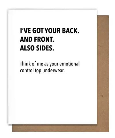 Emotional Support Undies Greeting Card