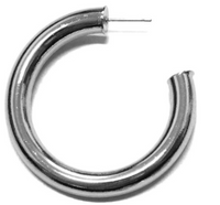 Open Brass Tube Hoop Earrings
