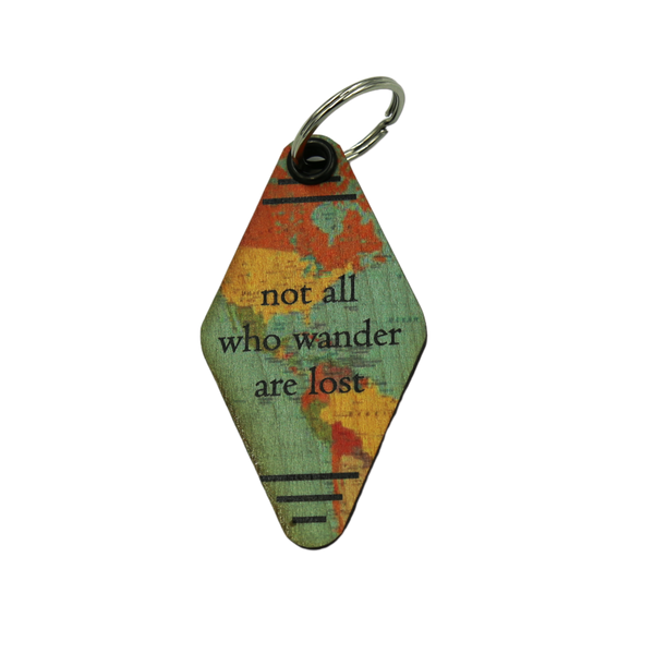 Travel Keychain - Not all who wander are lost
