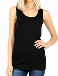 Black Cotton/Spandex Racerback Tank