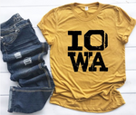 Iowa Distressed Crew Neck Softstyle Tee