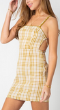 Checker Mini Lace Dress