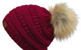 C.C Pom-Pom Beanie in Assorted Colors