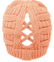 C.C Criss Cross Ponytail Beanie