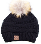 CC Pom-Pom Beanie in Assorted Colors