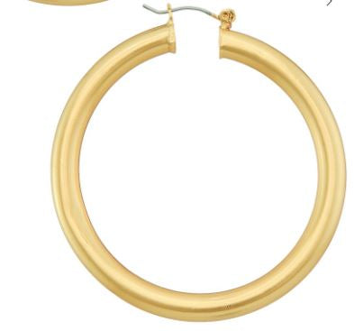 Worn Gold Chunky Hoop Earrings