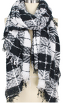 White Plaid Oblong Scarf