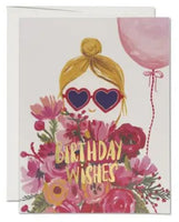 Heart Shaped Glasses Greeting Card