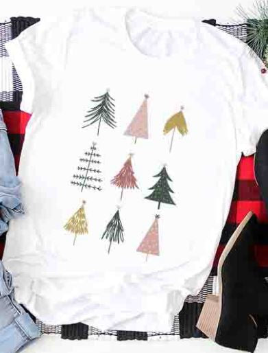 Christmas Trees Holiday Graphic Tee