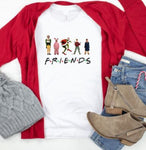 Christmas Friends Holiday Graphic Tee