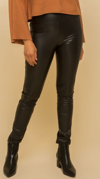 Fleece Lined Faux Leather Leggings