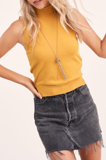 Zoe Mock Neck Top