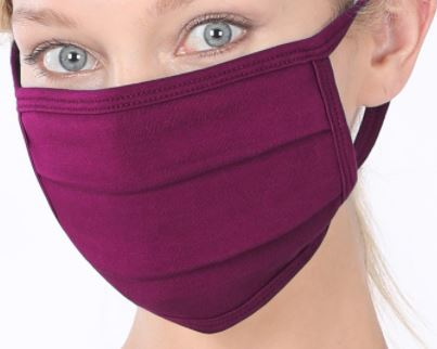 Dark Plum Cotton Mask