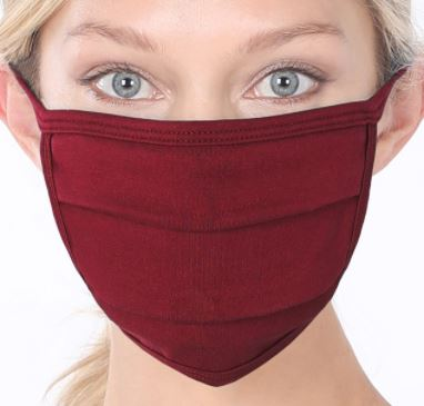 Dark Burgundy Cotton Mask