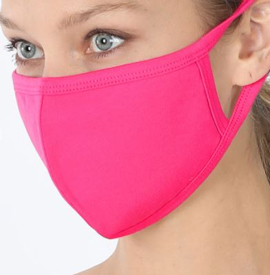 Hot Pink Cotton Mask