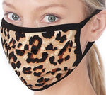 Brown Leopard Cotton Mask