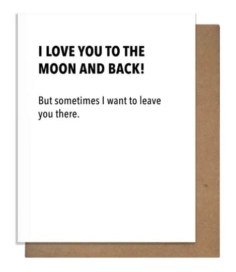 Moon & Back Greeting Card