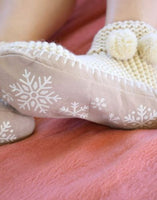 Snowflake Sllippers in Ivory or Mauve