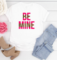 Be Mine Leopard Print Graphic Tee