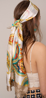 Silky Scarf with Paisley Print