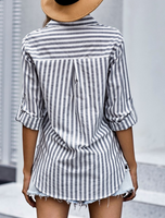 Cotton Striped Button Shirt