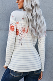 Floral Striped Long Sleeve Top