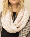 Cream Softest Chenille Twist Scarf