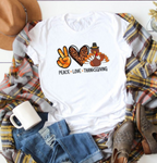 Peace Love Thanksgiving Graphic Tee