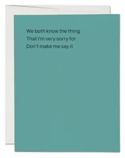 We Both Know Greeting Card