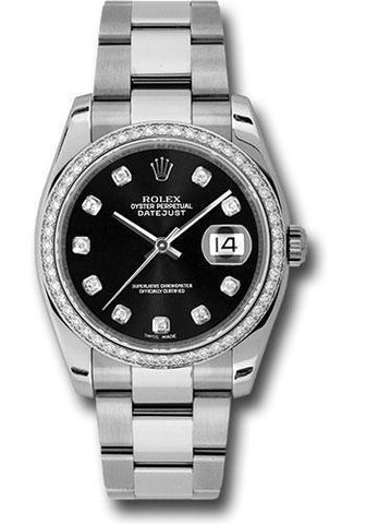 Rolex Oyster Perpetual Datejust 36 Watch 116244 bkdo