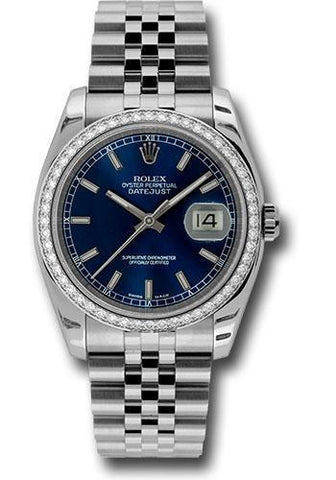 Rolex Oyster Perpetual Datejust 36 Watch 116244 blij