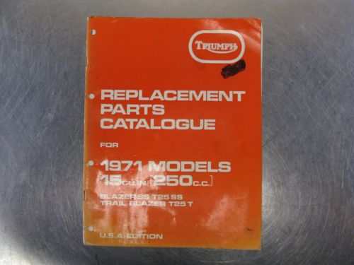 Triumph Motorcycles Parts Catalog Blazer SS T25 Trailblazer Trail Factory 1971