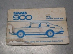 OWNER'S OWNERS MANUAL SAAB 900 1980 80 '80