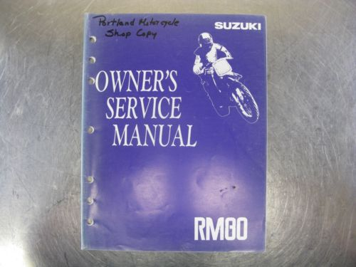 SUZUKI OWNER'S FACTORY SERVICE MANUAL 1992 92 RM80 RM 80 [N]