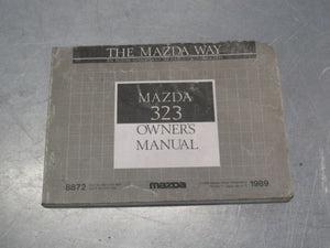 OWNER'S OWNERS MANUAL MAZDA 323 1989 89