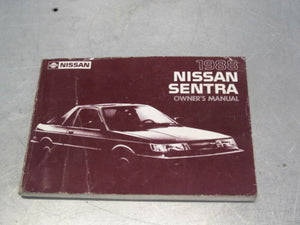 OWNER'S OWNERS MANUAL NISSAN SENTRA 1988 88