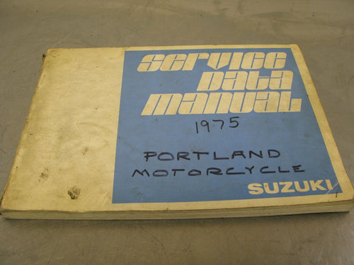 1975 Suzuki Service Data Manual 75 Guide Spec Specifications Factory OEM Dealer