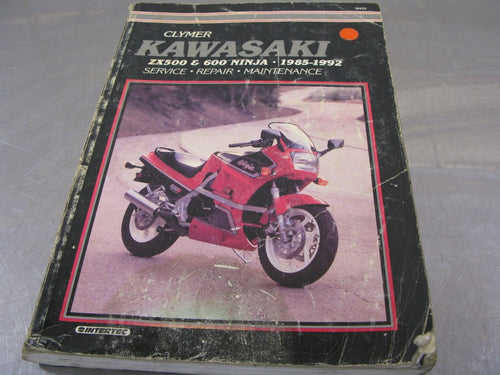 Clymer Service Manual 1985-1992 ZX500 ZX600 Repair Guide Handbook 85-92 90 1990