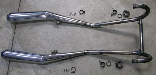 BMW R65 R 65 650 1979 79 Complete Factory Exhaust System Headers Mufflers Nuts