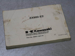 Kawasaki 2001 ZX9R ZX900R ZX900 ZX-9R 01 Owner'S Owners Manual Book ZX900-E2