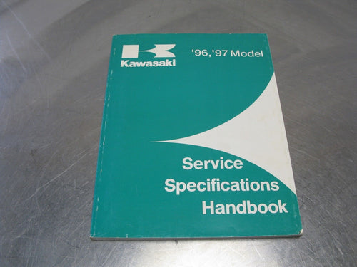 1996 1997 Model Kawasaki OEM Service Specifications Handbook Part #99926-1028-01