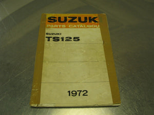1972 Suzuki Motorcycle TS125 Parts Catalog Catalogue Manual