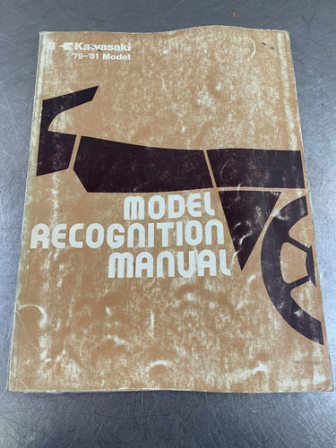 Kawasaki Genuine Recognition Manual Identification Guide Book ID 1979-1981 79-81