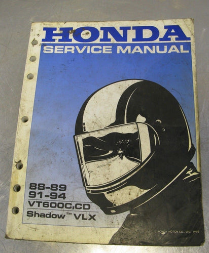 Honda OEM Service Manual 1988-1994 VT600C VT600CD Shadow VLS 88 89 91 92 93 94