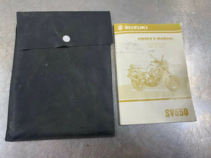 Suzuki 99 SV650 1999 Genuine Owners Manual & Pouch Factory Guide OEM Operators
