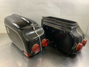 Vintage BMW Left & Right Hard Side Cases Luggage Panniers Airhead Possibly Aldo
