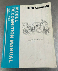Kawasaki Genuine Recognition Manual Identification Guide Book ID 95-01 1995-2001
